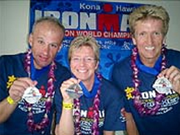 Finisher beim Ironman Hawaii - Gabi Morhart, Klaus Wenk und Thorsten Fritz